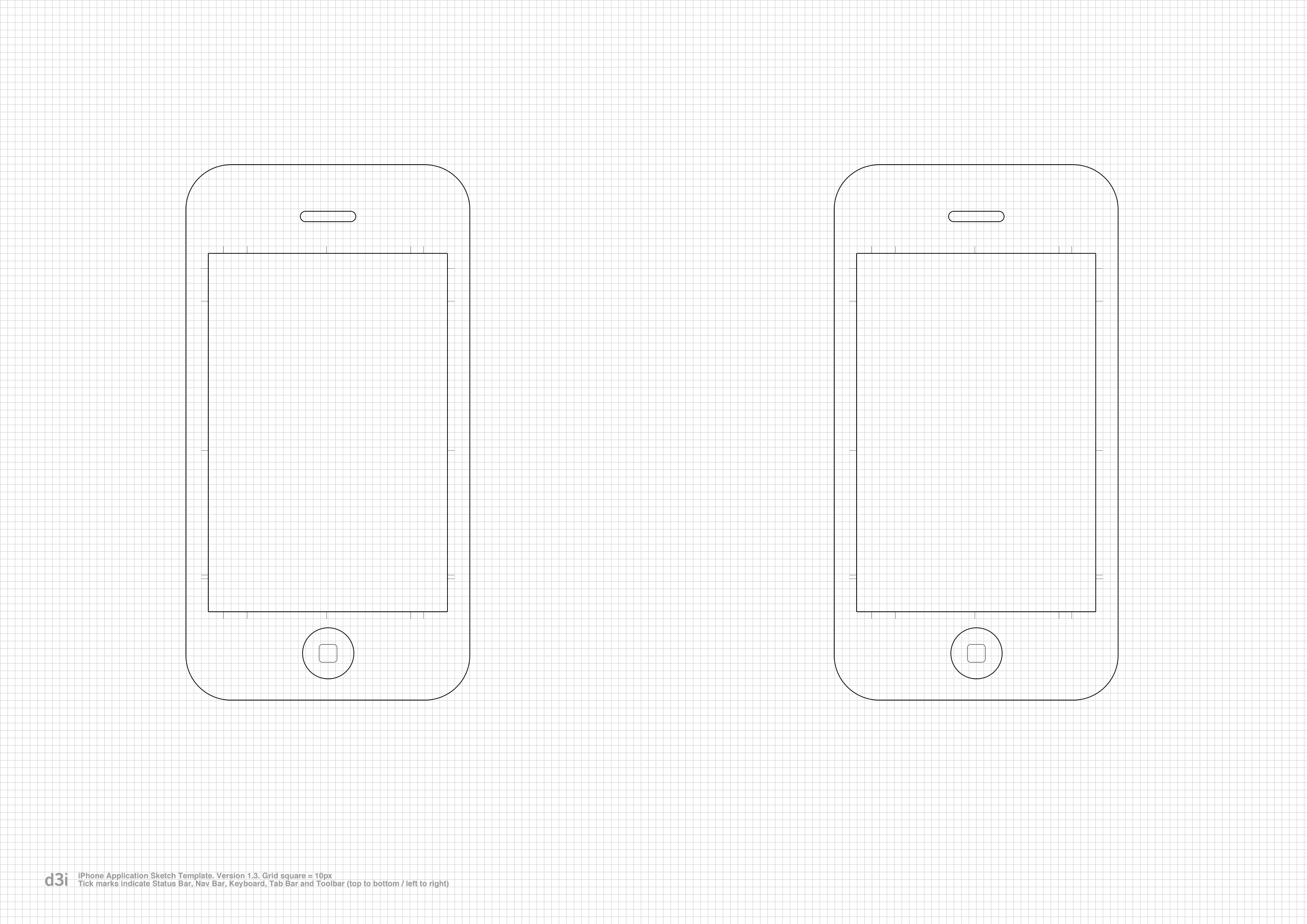 iPhone Application Sketch Template v1.3 | Flickr - Photo ...