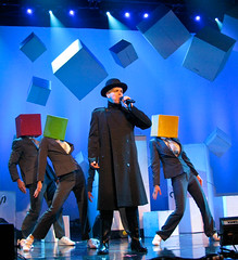 Pet Shop Boys Concert - Cubeheads dancing