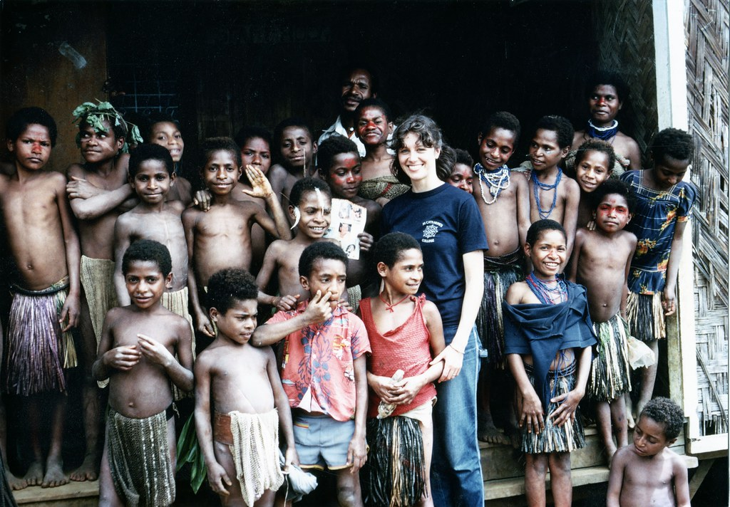 Heather at the school in the highlands of Papua New Guinea