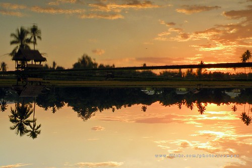sunset reflection indonesia afternoon village northsulawesi sulawesi supershot gorontalo limboto