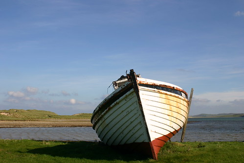 Abandoned fishing boat, Co. Donegal