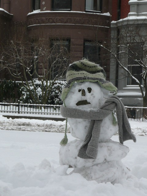 Sad Snowman On Commonwealth Ave Aww He Looks So Sad I