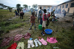 Refugees from the Democratic Republic of Congo (DRC) in western Uganda. The people have fled the fighting in the eastern region of the country. by Pan-African News Wire File Photos