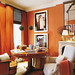 Orange room + white accents by Jeffrey Bilhuber