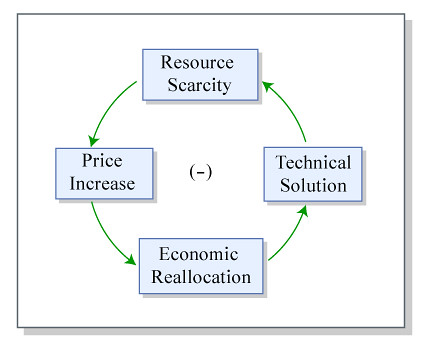 Example of a feedback loop in an economy