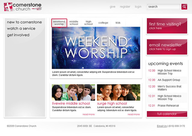 Cornerstone Church - Home Page