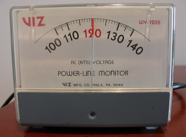 In Line Voltage Meter : Viz wv b expanded scale ac voltage power line monitor