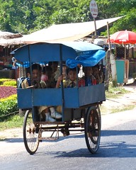 rickshaw, vehicle, land vehicle, carriage,