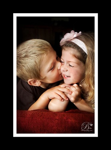 """My Handsom Prince"" -- boy kisses girl on cheek by Beba Photography"