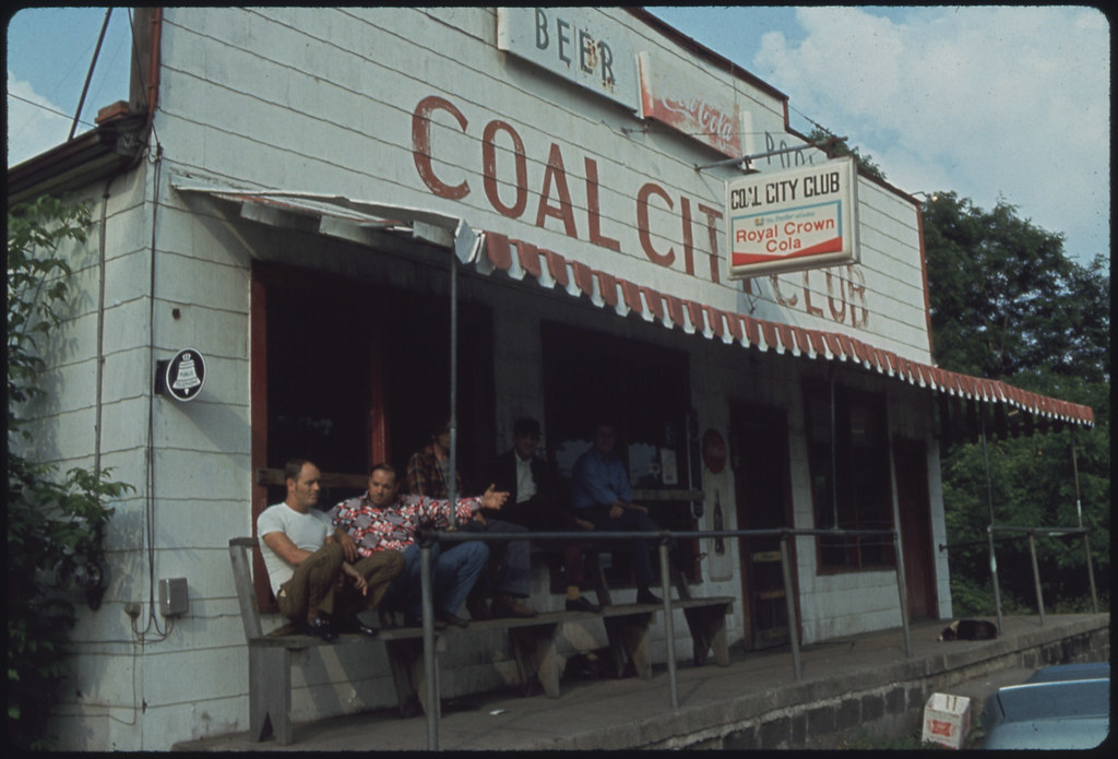 Coal City Club in Coal City, West Virginia, a Part of Beckley All of the Men Are Coal Miners 06/1974