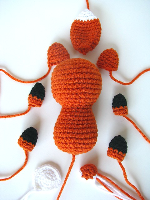 Fox Amigurumi Ravelry : Fox Amigurumi - parts Free pattern at on Ravelry: www ...