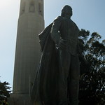 San Francisco - Telegraph Hill: Christopher Columbus and Coit Tower