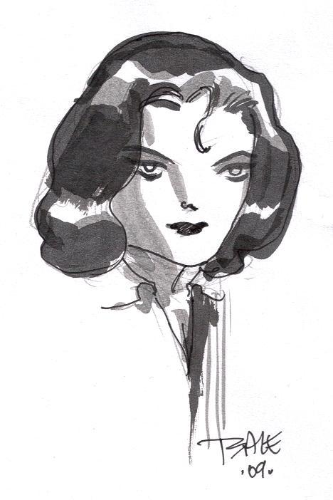 Lois Lane by Tim Sale (Baltimore Comic Con 2009)