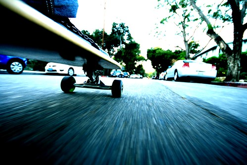 Longboarding Down The Street