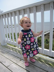 Bella Porter is walking in Cape Hatteras NC