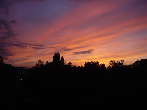 pink sunset sky orange germany deutschland purple cologne köln gradation 夕暮れ 夕焼け 2004年 オレンジ 紫 ピンク ドイツ 日没 ケルン