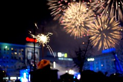 outdoor recreation(0.0), fireworks(1.0), event(1.0), recreation(1.0), new year(1.0), new year's eve(1.0), night(1.0),