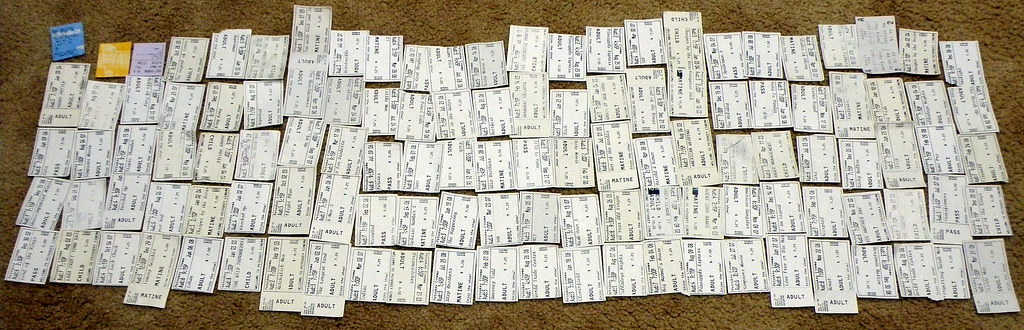 Movie ticket collection angle two