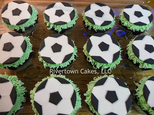 Soccer Cupcakes