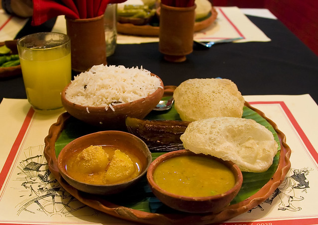 Authentic bengali lunch at kewpie 39 s on astami flickr for Authentic bengali cuisine
