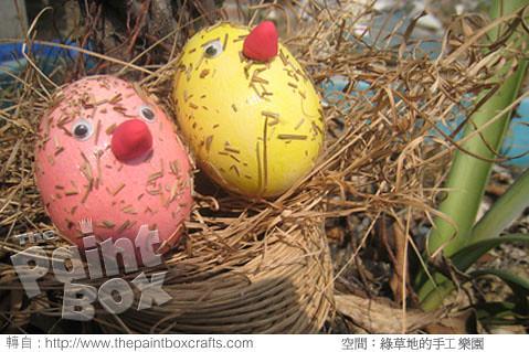 轻质黏土作品鸟蛋饰品