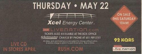 05/22/08 Rush @ St. Paul, MN (Ad - Bottom)