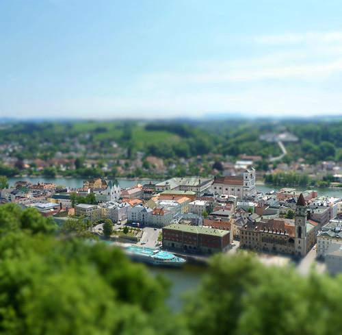 Passau caught between Danube and Inn river