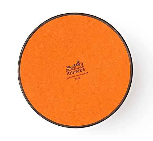 Hermes round orange logo box