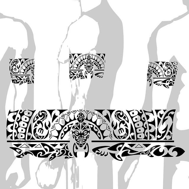 Tatuagem Faixa Maori Alphaparf Alta Moda