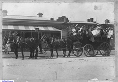 A Passenger Service was provided by a coach and a team of horses