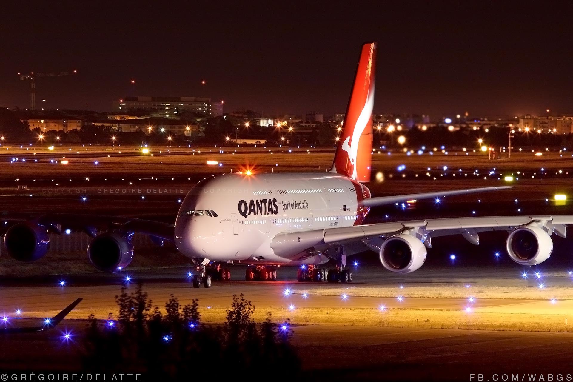 Airbus A380 Qantas - Toulouse