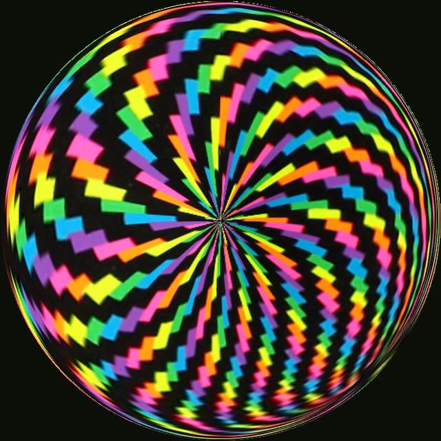 Op art spiral