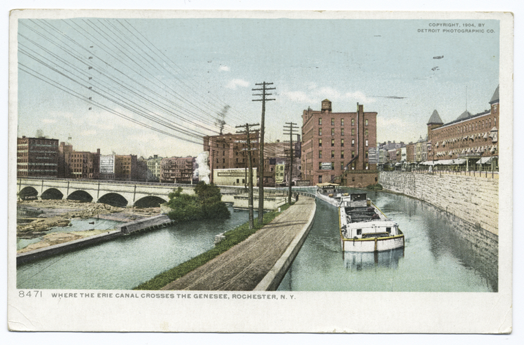 Where the Erie Canal crosses the Genesee, Rochester, N. Y.