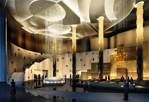 Grand Hyatt Macau Lobby,澳門君悅酒店大堂,澳門君悦酒店大堂