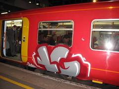South West trains graffiti