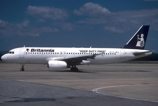 Britannia A320-231 EI-TLJ GRO 04/08/1998