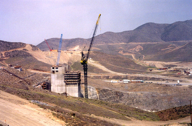 Diamond Valley Lake I/O Tower (under construction ~1997)