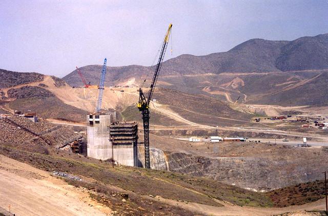 Diamond Valley Lake I/O Tower (under construction ~1997)