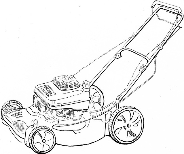lawn mower coloring pages - photo#3