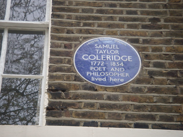 Samuel Taylor Coleridge blue plaque - Samuel Taylor Coleridge 1772-1834 poet and philosopher lived here