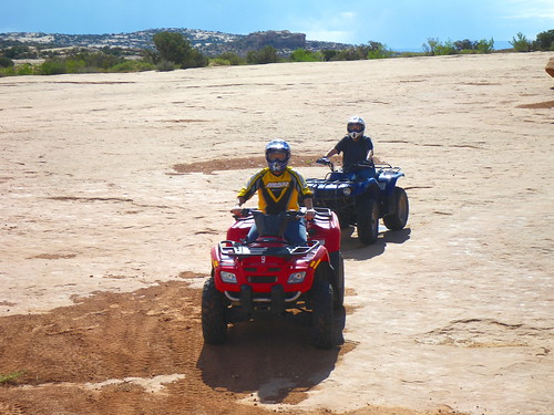 Riding ATV on Slick Rock