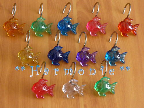 12 ganchos para cortina de ba o en resina harmonie for Ganchos de resina para cortinas de bano