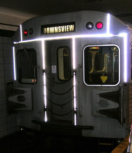 DO2007 13 - TTC - Lower Bay Station - Front of Subway Car - 2007