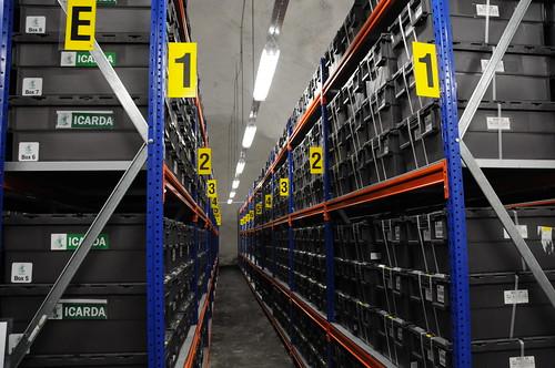 Shelves Inside the Svalbard Global Seed Vault