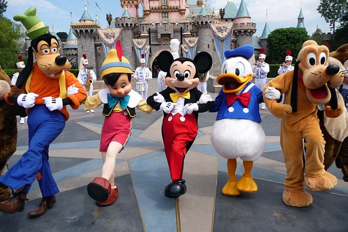 The Disneyland Band and Characters entertain
