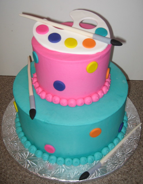 Art Party Cake Designs : Bright Art Party Cake Flickr - Photo Sharing!
