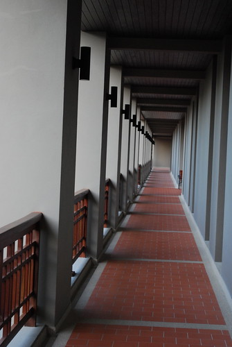 Walkway inside building