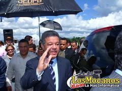 Leonel Fernández de visita por Moca