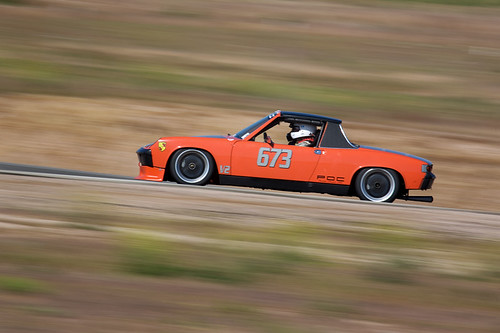 Porsche 914 R # 673 driven by Chris Campbell during the POC Triple Crown event at Willow Springs Raceway.
