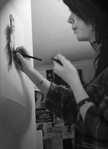 doing what I do worst - drawing with charcoal.